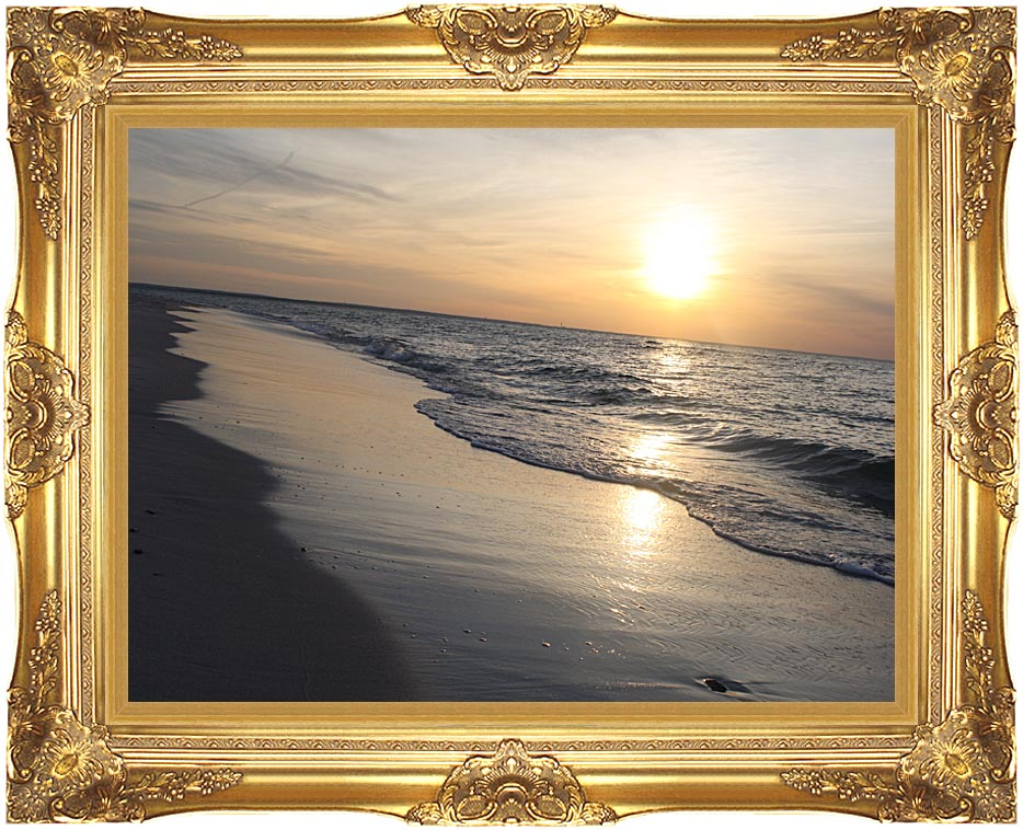Kim O'Leary Photography Sunset over Cape Cod with Majestic Gold Frame