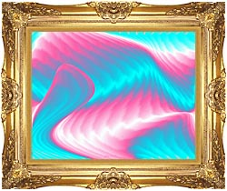 Lora Ashley Miami Surf canvas with Majestic Gold frame