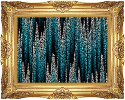 Lora Ashley Cascading Pearls canvas with Majestic Gold frame