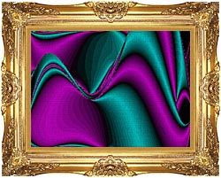 Lora Ashley Blocked Curves canvas with Majestic Gold frame