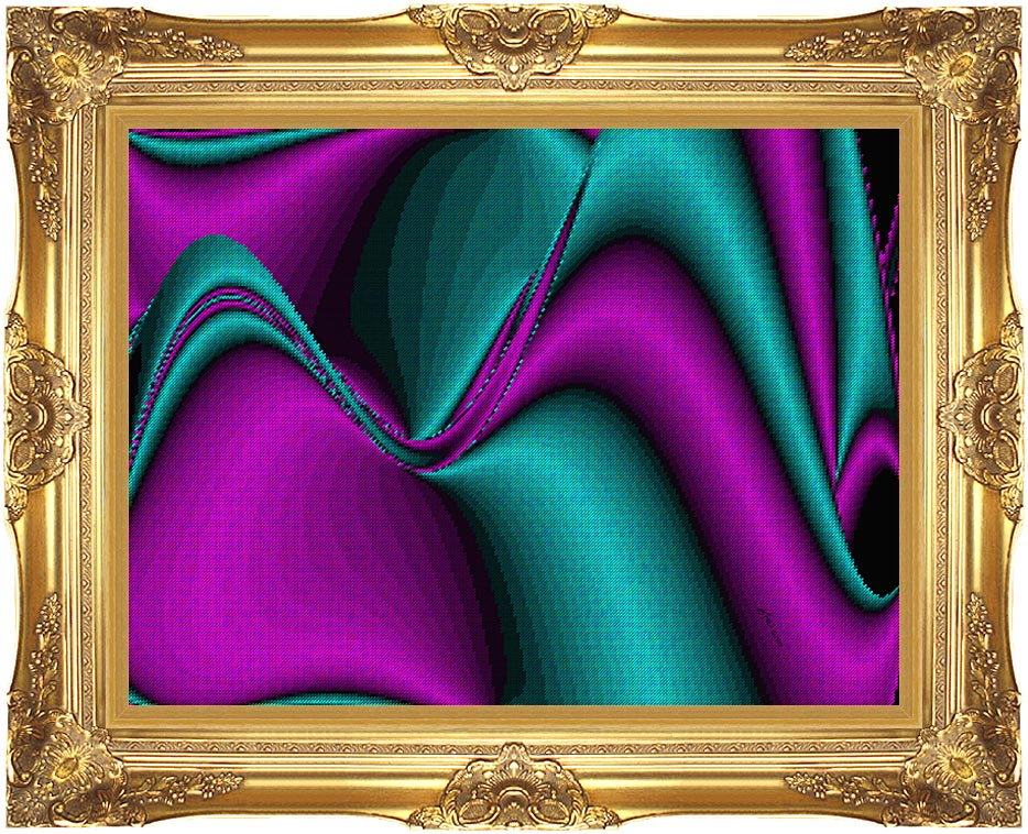 Lora Ashley Blocked Curves with Majestic Gold Frame