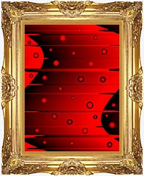 Lora Ashley Balance Red And Black canvas with Majestic Gold frame