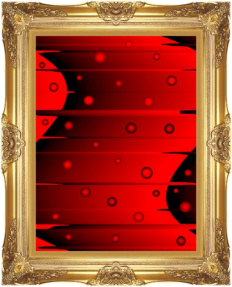 Lora Ashley Balance (Red and Black) with Majestic Gold Frame
