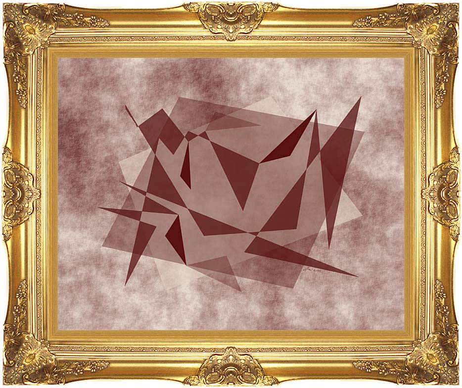 Lora Ashley Fragments Unite (Brown and Tan) with Majestic Gold Frame