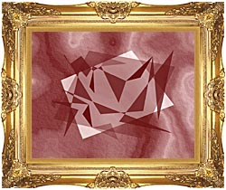 Lora Ashley Fragments Unite Cranberry Brown canvas with Majestic Gold frame