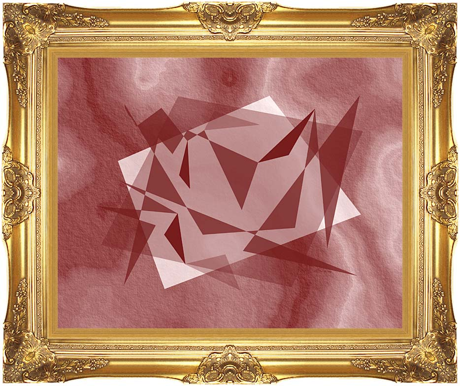 Lora Ashley Fragments Unite (Cranberry Brown) with Majestic Gold Frame