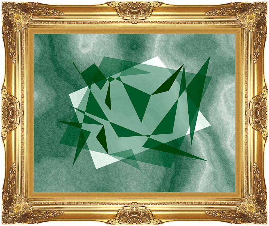 Lora Ashley Fragments Unite (Green) with Majestic Gold Frame