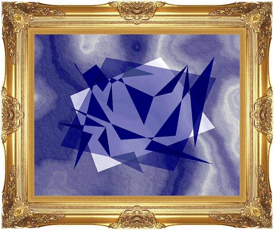 Lora Ashley Fragments Unite (Blue) with Majestic Gold Frame