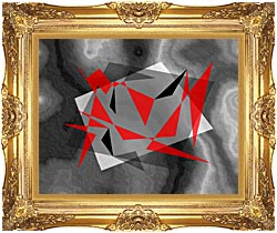 Lora Ashley Fragments Unite Red And Black canvas with Majestic Gold frame