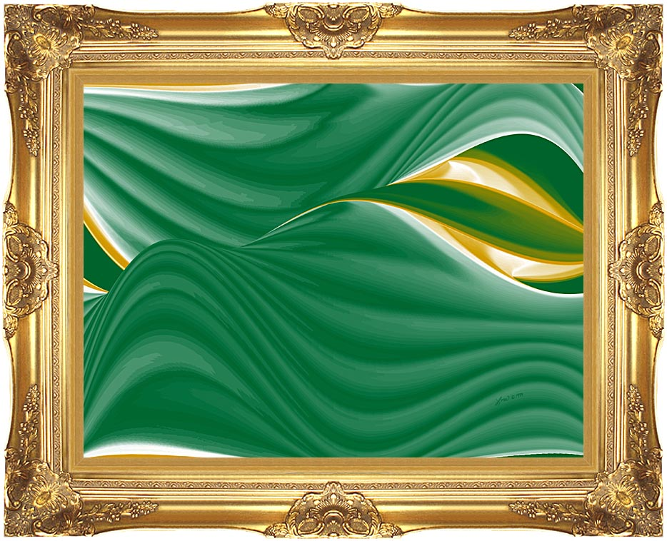 Lora Ashley Spring Leaves with Majestic Gold Frame