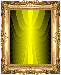 Lora Ashley Lemon Slide canvas with Majestic Gold frame