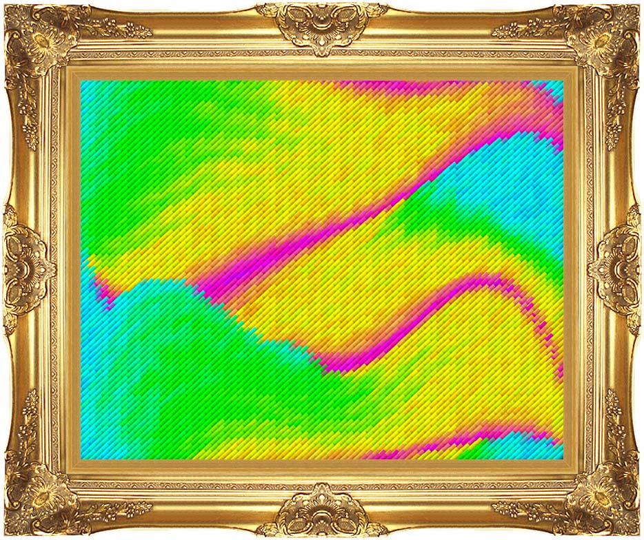 Lora Ashley Frolic with Majestic Gold Frame