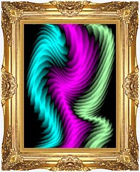 Lora Ashley Dancing Rays canvas with Majestic Gold frame