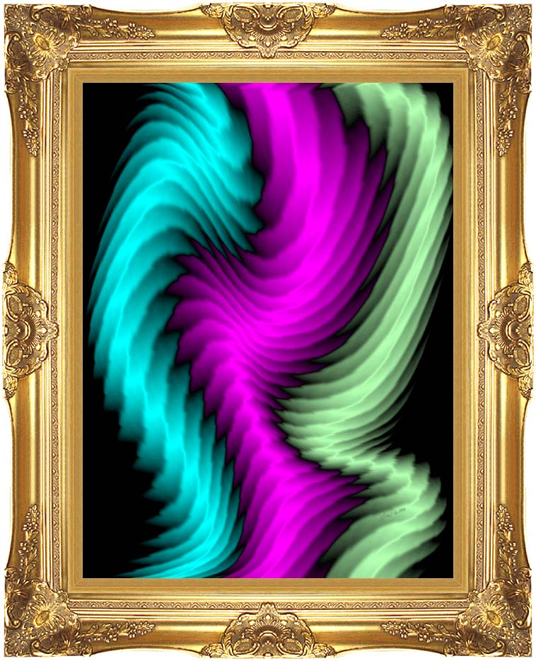 Lora Ashley Dancing Rays with Majestic Gold Frame
