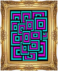 Lora Ashley Data Overload canvas with Majestic Gold frame