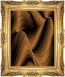 Lora Ashley Chocolate River canvas with Majestic Gold frame