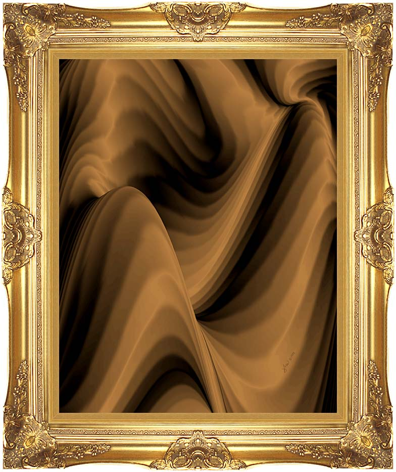 Lora Ashley Chocolate River with Majestic Gold Frame