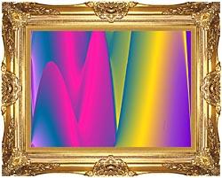 Lora Ashley Rainbow World canvas with Majestic Gold frame
