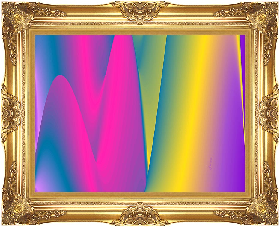 Lora Ashley Rainbow World with Majestic Gold Frame
