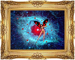 Lora Ashley Fairy Of Hearts canvas with Majestic Gold frame