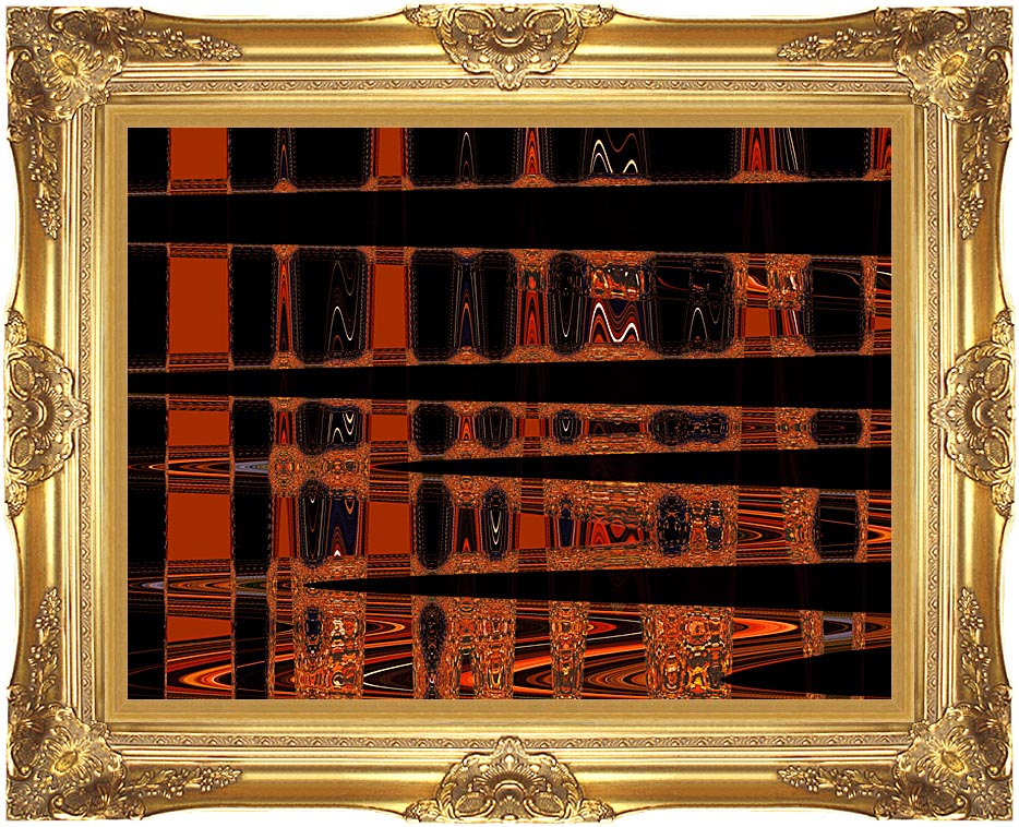 Lora Ashley Contemporary Art Nouveau with Majestic Gold Frame