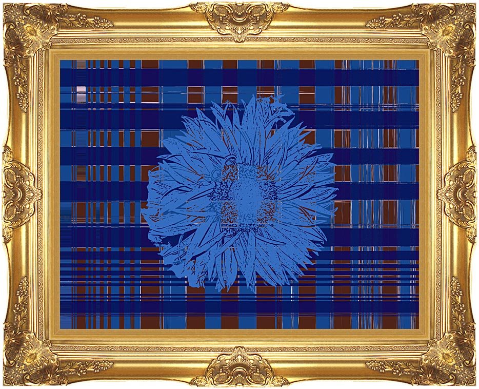 Lora Ashley Blue Floral Tapestry with Majestic Gold Frame