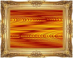 Lora Ashley Red And Yellow Slide canvas with Majestic Gold frame