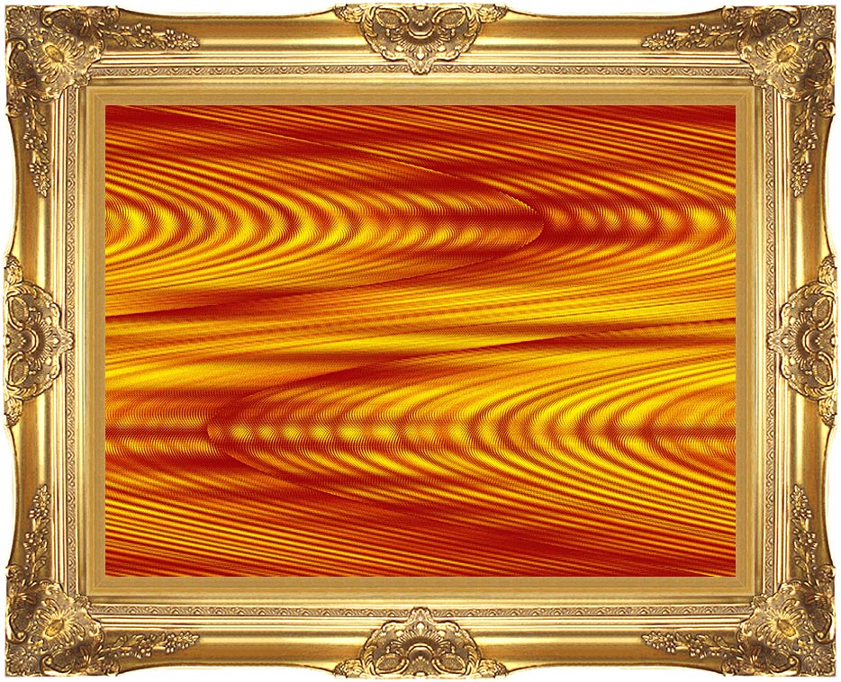Lora Ashley Red and Yellow Slide with Majestic Gold Frame