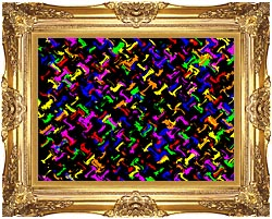 Lora Ashley Contemporary Rainbow Colors canvas with Majestic Gold frame