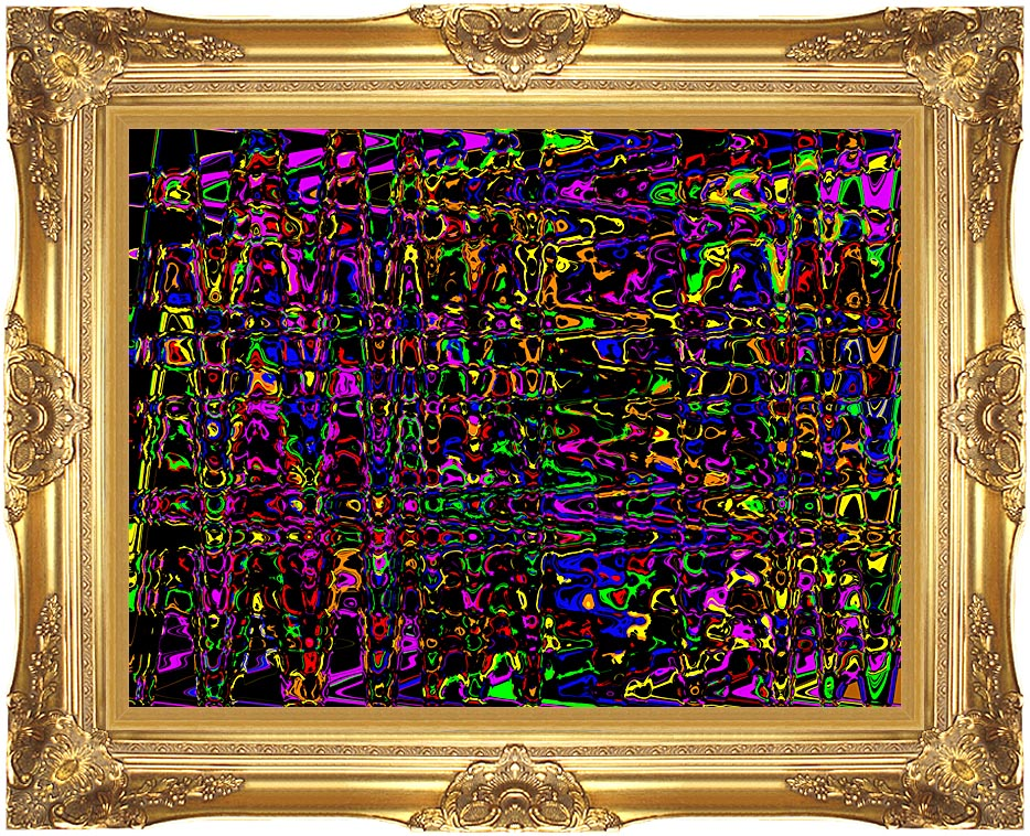 Lora Ashley Rainbow Abstract with Majestic Gold Frame