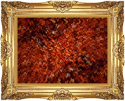 Lora Ashley Autumn Abstract Tapestry canvas with Majestic Gold frame