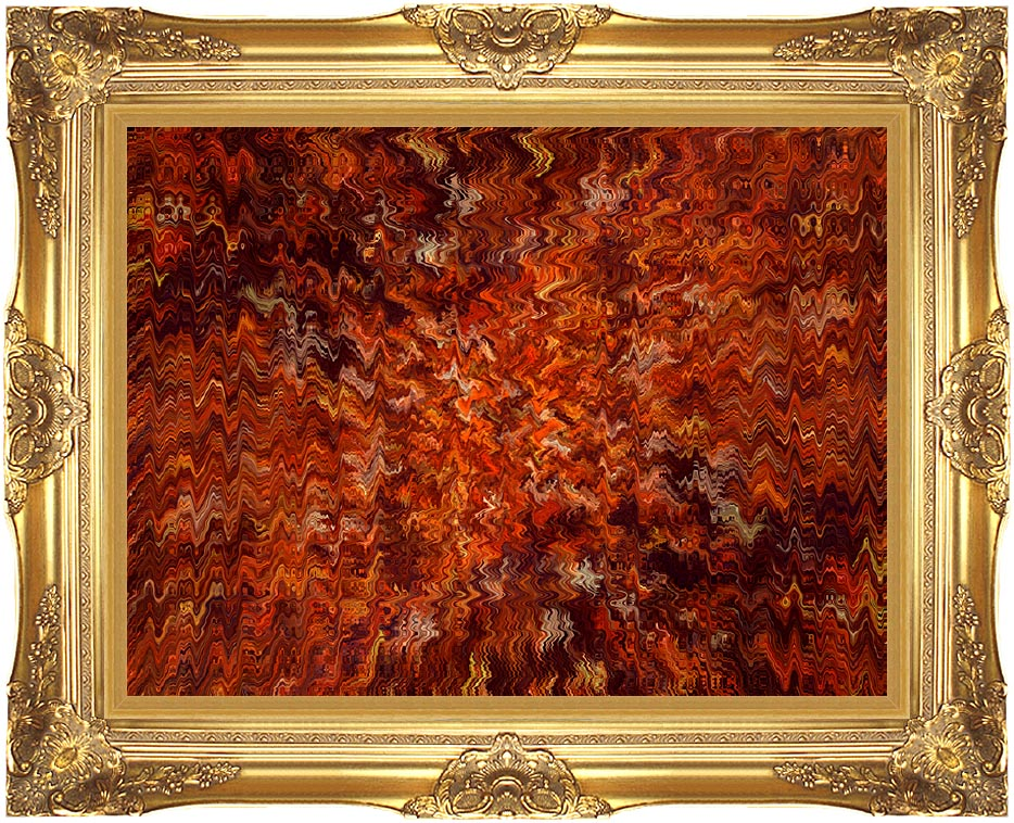 Lora Ashley Autumn Abstract Tapestry with Majestic Gold Frame