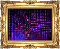 Lora Ashley Pink And Blue Light Show canvas with Majestic Gold frame