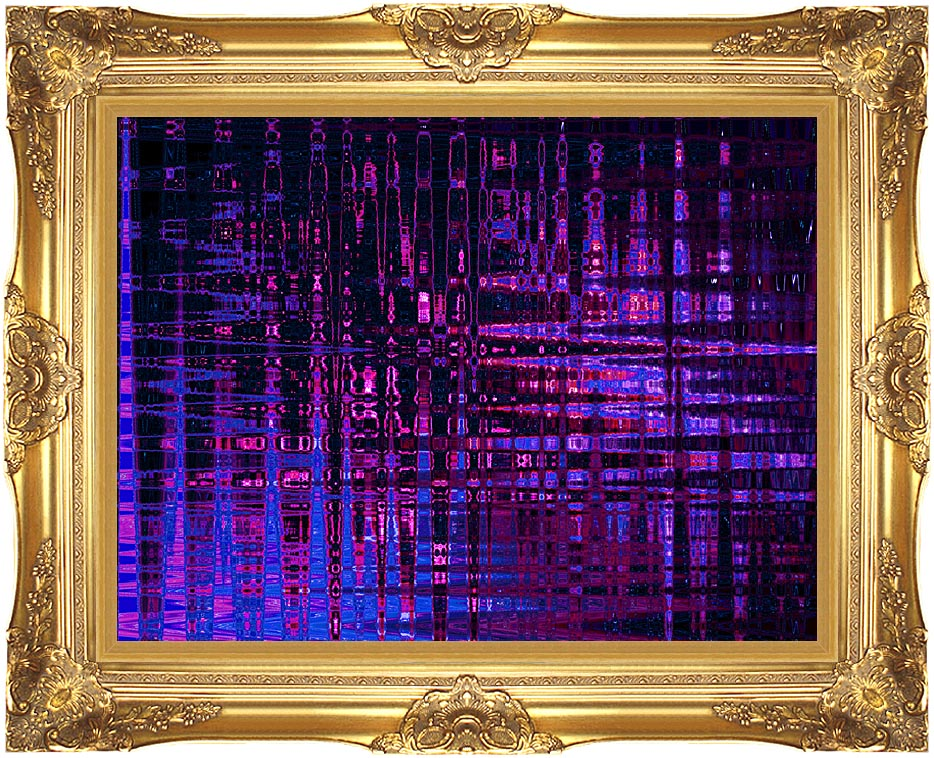 Lora Ashley Pink and Blue Light Show with Majestic Gold Frame