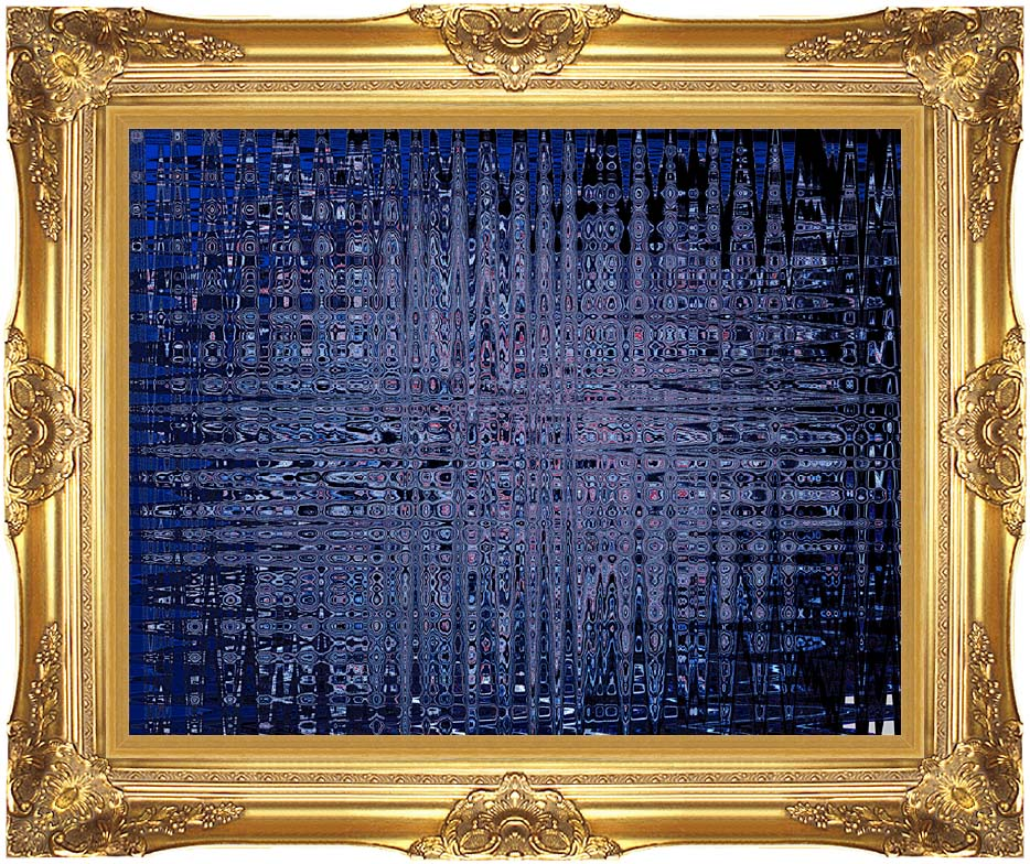 Lora Ashley Black and Blue Tapestry with Majestic Gold Frame