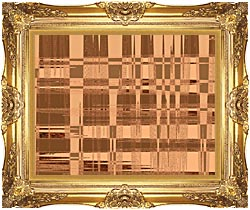 Lora Ashley Contemporary Tan Tapestry canvas with Majestic Gold frame
