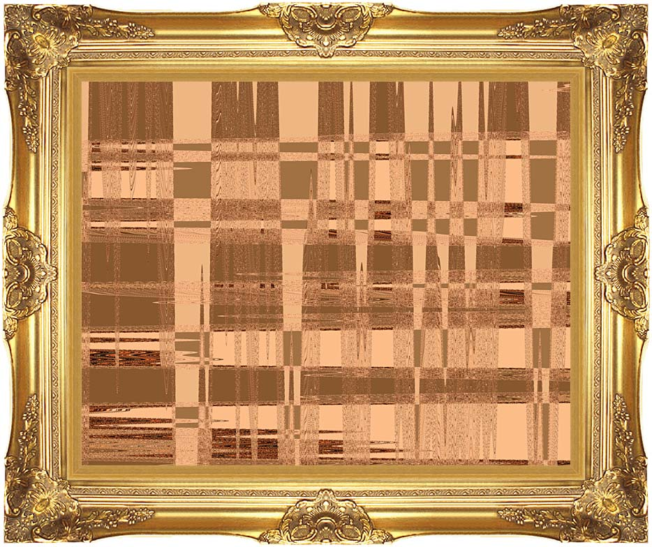 Lora Ashley Contemporary Tan Tapestry with Majestic Gold Frame