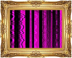 Lora Ashley Contemporary Magenta Abstract canvas with Majestic Gold frame