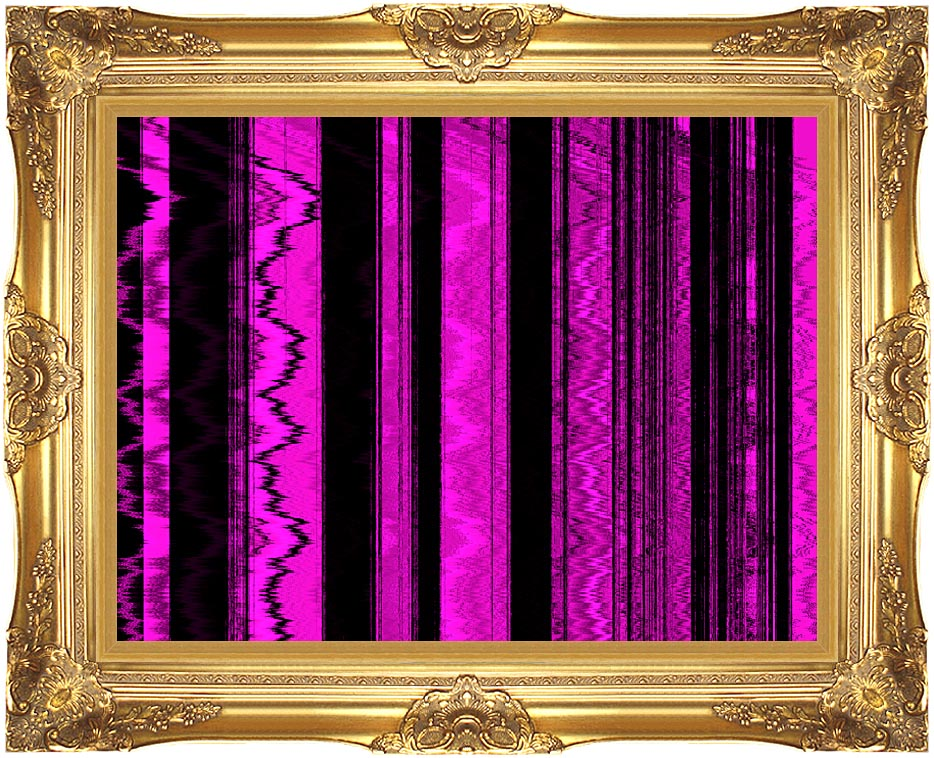 Lora Ashley Contemporary Magenta Abstract with Majestic Gold Frame