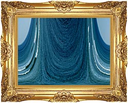 Lora Ashley Contemporary Water World canvas with Majestic Gold frame