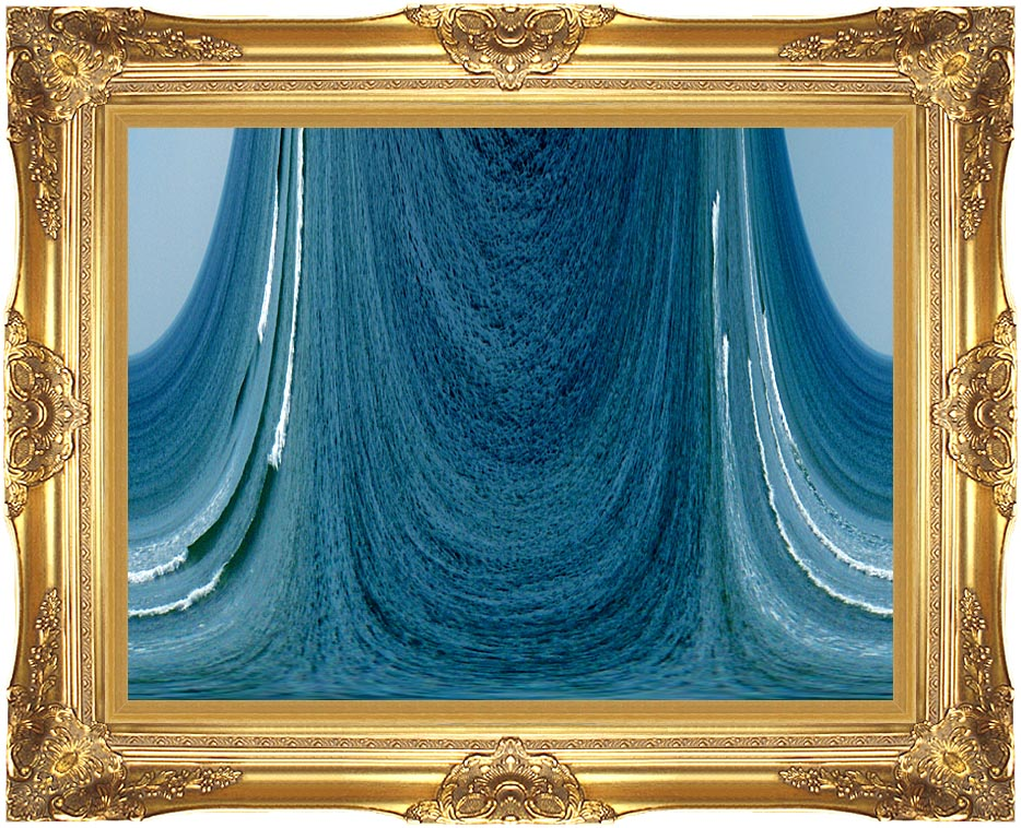 Lora Ashley Contemporary Water World with Majestic Gold Frame