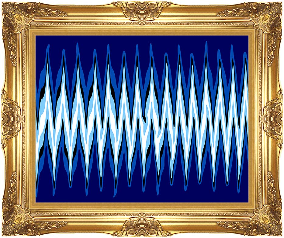 Lora Ashley High Voltage Abstract with Majestic Gold Frame