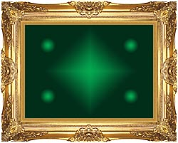 Lora Ashley Green Contemporary canvas with Majestic Gold frame