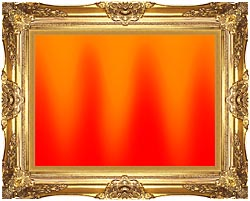 Lora Ashley Red And Orange Contemporary canvas with Majestic Gold frame