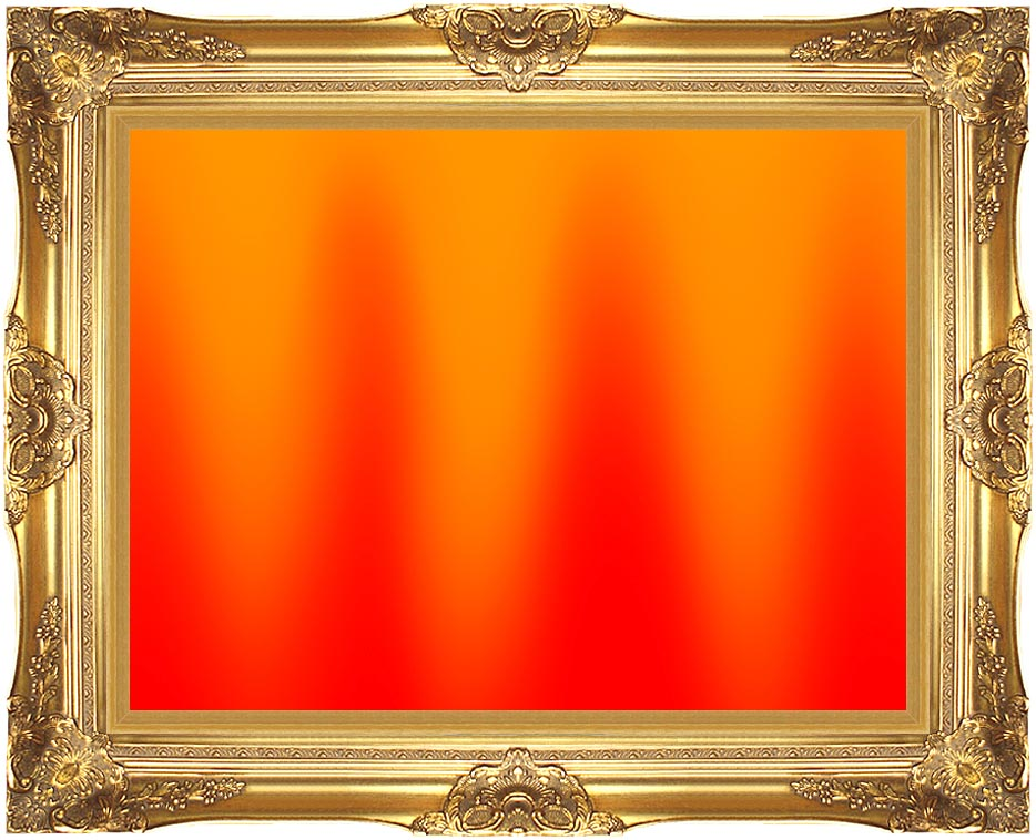 Lora Ashley Red and Orange Contemporary with Majestic Gold Frame