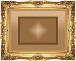 Lora Ashley Brown And Tan Modern canvas with Majestic Gold frame