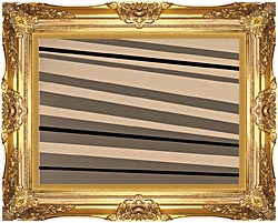 Lora Ashley Contemporary Black And Tan canvas with Majestic Gold frame