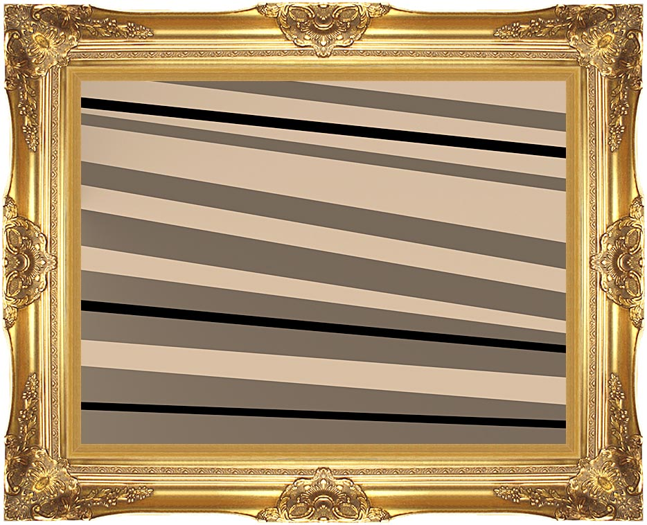 Lora Ashley Contemporary Black and Tan with Majestic Gold Frame