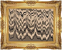 Lora Ashley Modern Black And Tan canvas with Majestic Gold frame