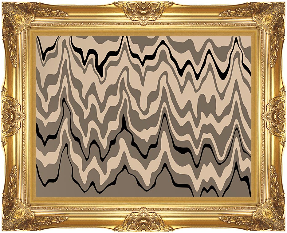 Lora Ashley Modern Black and Tan with Majestic Gold Frame